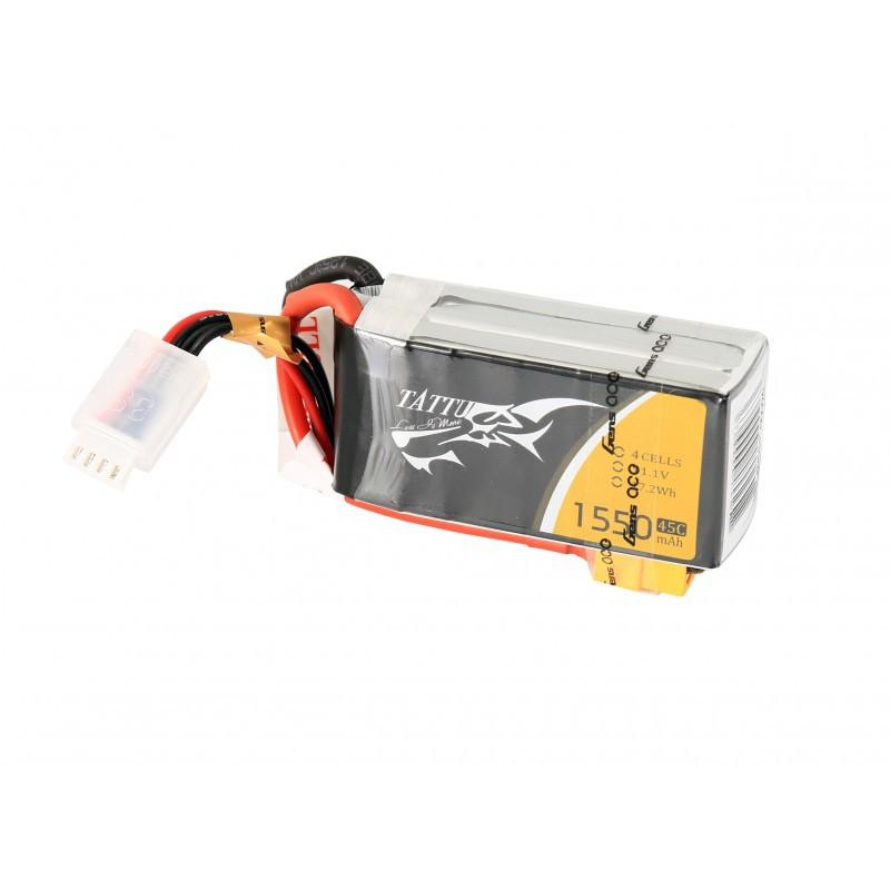 TATTU 1550mAh 4S 14.8V 45C LiPo Battery