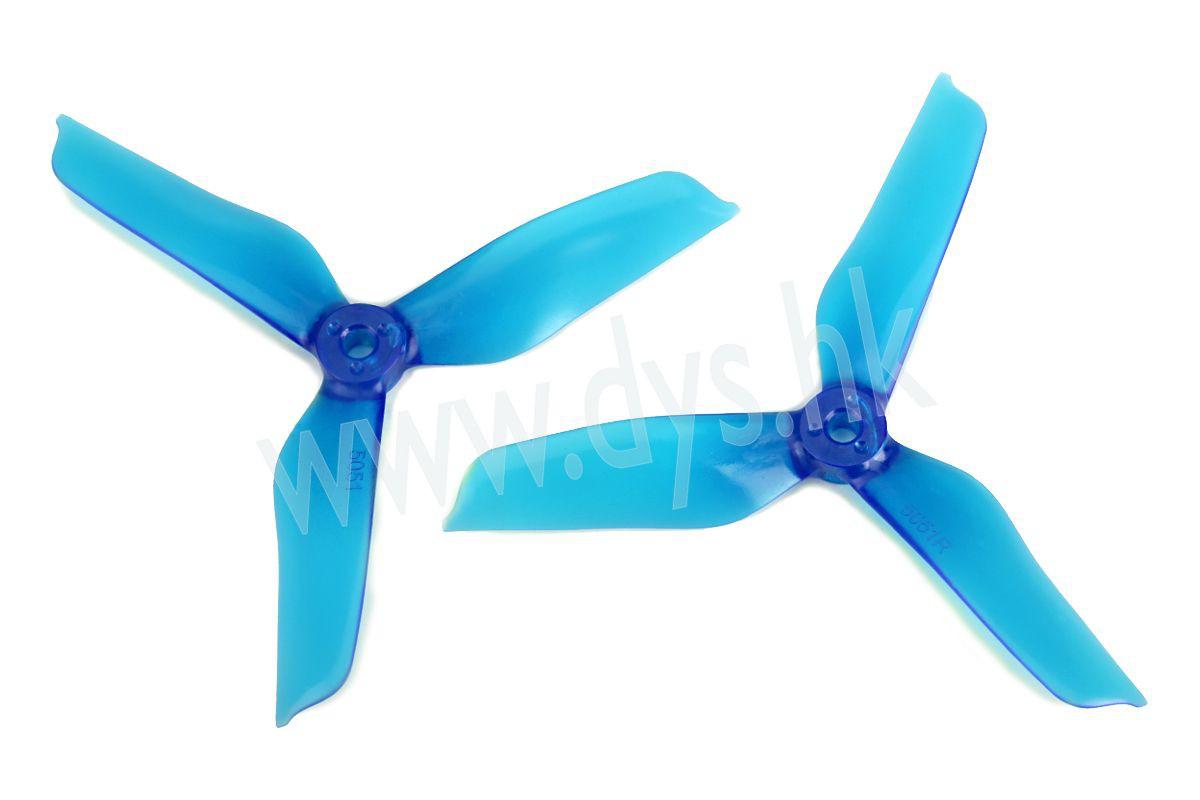 2x DYS 5051 triblade propeller transparent blue