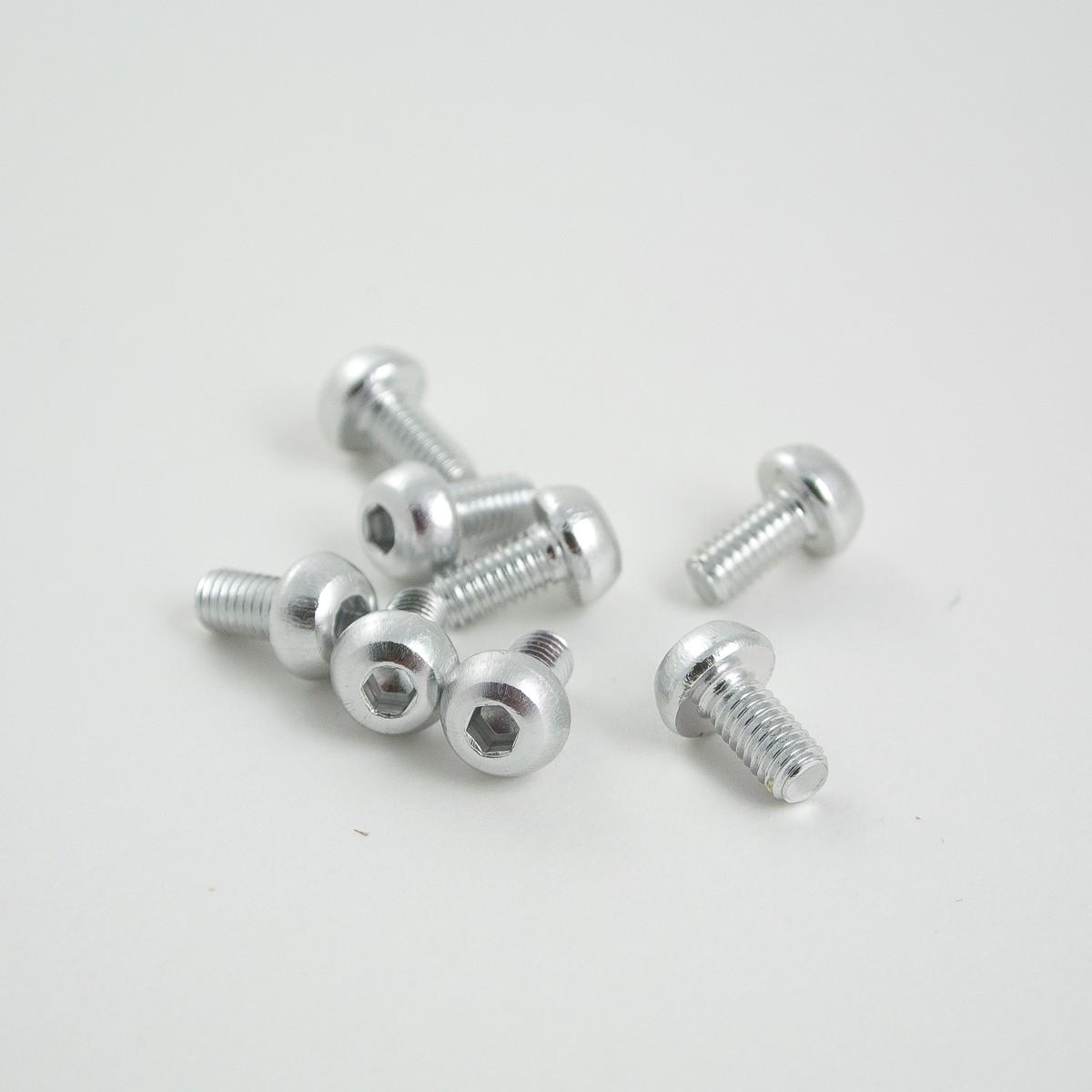 6mm M3 aluminium button head bolt 8pcs