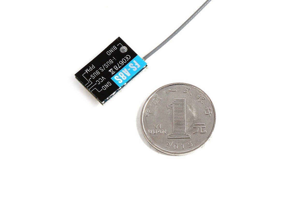 FlySky FS-A8S 2.4Ghz nano sized non-telemetry receiver with i-bus or s-bus