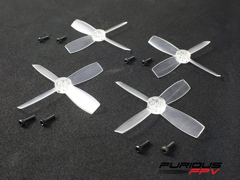 4x Furious FPV High Performance 2435 Propellers Transparent