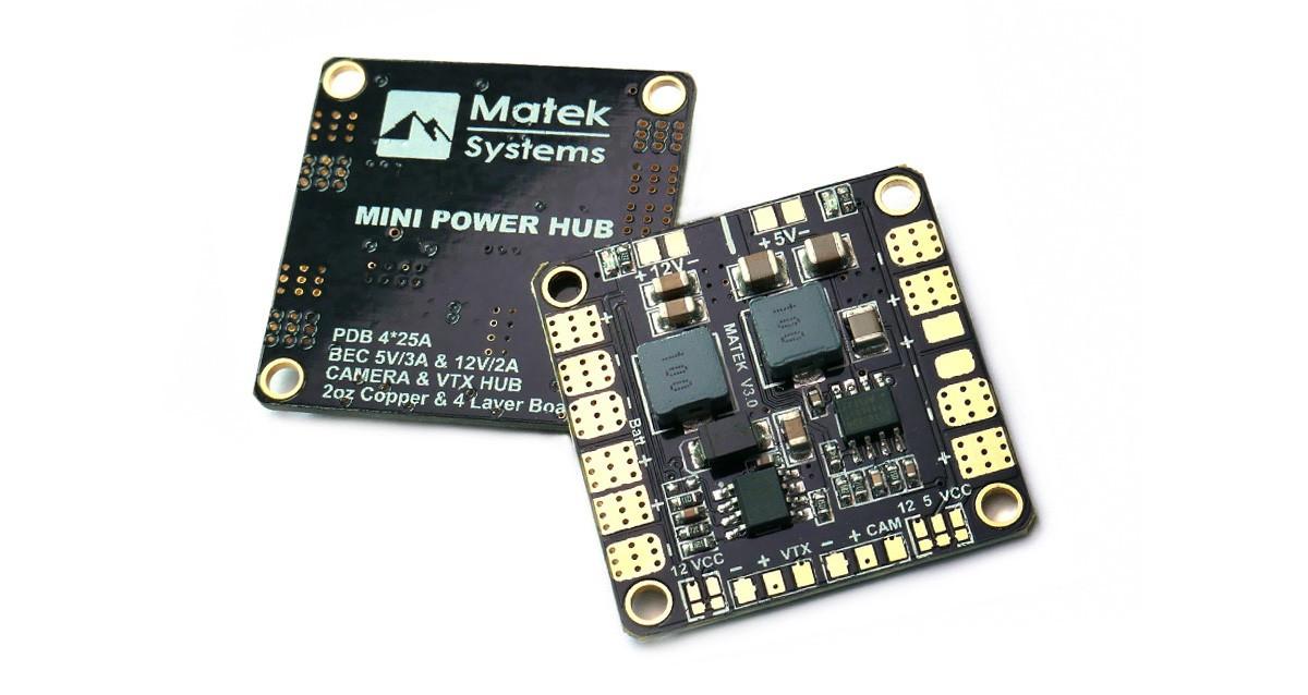 Matek Mini Power Hub v3 PDB w/ 5V & 12V BEC