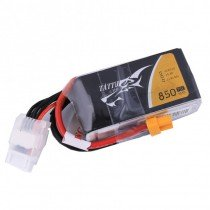 TATTU 850mAh 4S 14.8V 75C LiPo Battery