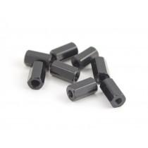10mm hex steel M3 standoff black 8pcs