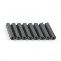 25mm hex nylon M3 standoff black 8pcs