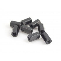 10mm hex steel M3 standoff black 8pcs