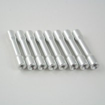 35mm round step aluminium M3 standoff silver 8pcs