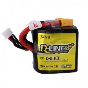 TATTU R-Line Square 1300mAh 4S 95C LiPo Battery