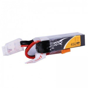 TATTU 450mAh 3S 11.1V 75C LiPo Battery Long Size