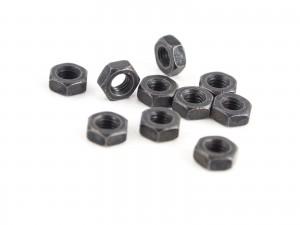 M3 steel nut black 10pcs