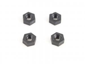M3 nylon nut black 4pcs