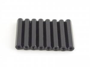 35mm hex steel M3 standoff black 8pcs