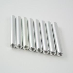 35mm round aluminium M3 standoff silver 8pcs