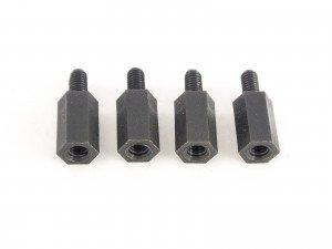 10mm hex nylon M3 standoff black 4pcs