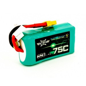 ACEHE 650mAh 4S 75C 14.8V LiPo Battery