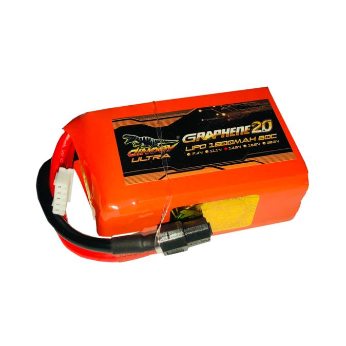 Dinogy Ultra Graphene 2.0 1600mAh 4S 14.8V 80C LiPo Battery