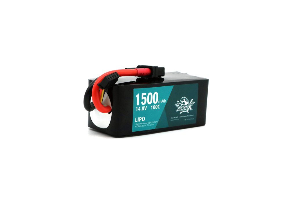 ACEHE Ace-X 1500mAh 4S 100C 14.8V LiPo Battery