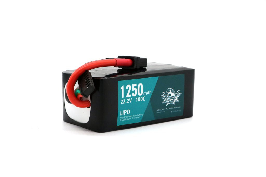 ACEHE Ace-X 1250mAh 6S 100C 22.2V LiPo Battery