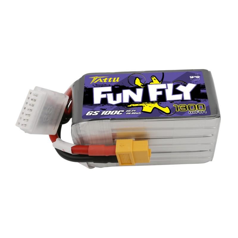 TATTU FunFly 1300mAh 6S 22.2V 100C LiPo Battery
