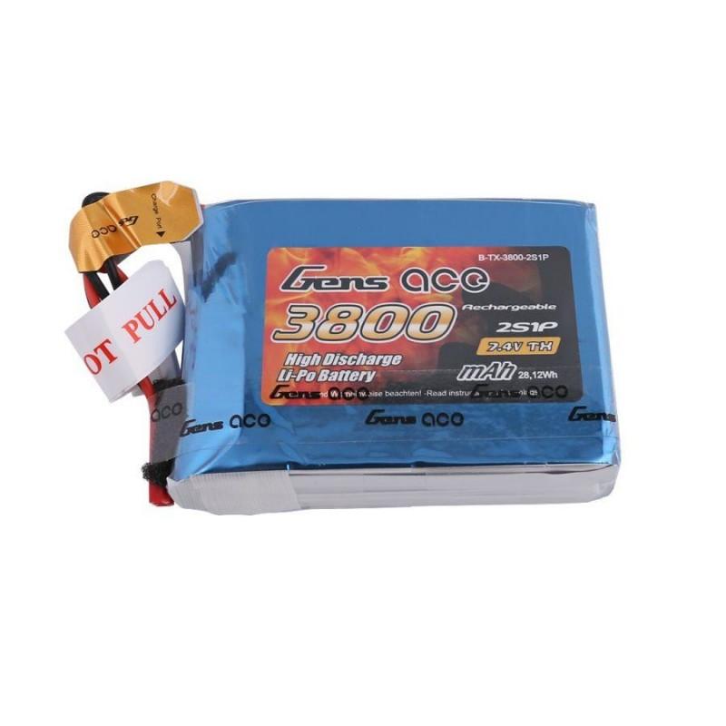 GensACE 3800mAh 2S 7.4V Transmitter Pack for Taranis QX7