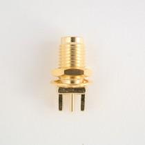 SMA long bulkhead connector solder edge