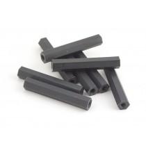 35mm hex nylon M3 standoff black 8pcs