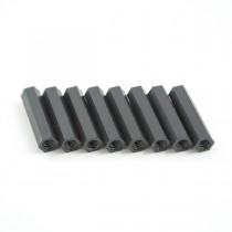 25mm hex nylon M3 standoff black 8pcs