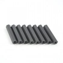 30mm hex nylon M3 standoff black 8pcs