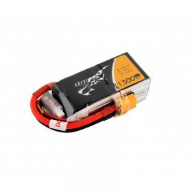TATTU 1300mAh 4S 14.8V 75C LiPo Battery